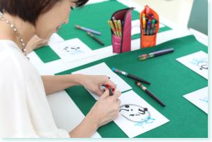 愛知県名古屋市で筆文字・伝筆を習うならあるく、今井裕子